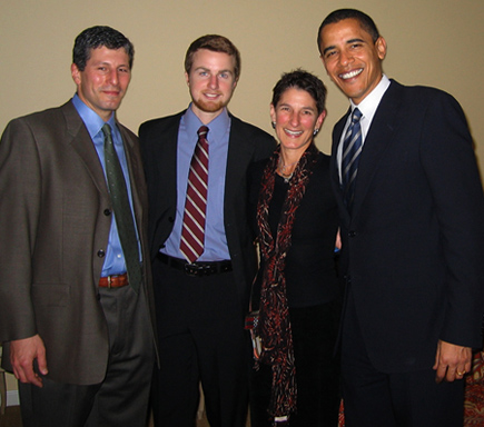 Michael and family with Barack Obama
